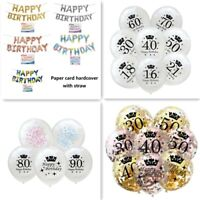 Happy Birthday Balloons Wedding Decoration Round Confetti Filled Balloon