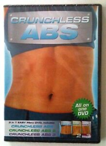 CRUNCHLESS ABS 1, 2 & 3 - All on One DVD NEW