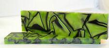 """Kirinite tossici verde/nero 3/8x1.5x6"""" Scale per Coltello rendendo e lavorazione del legno"""