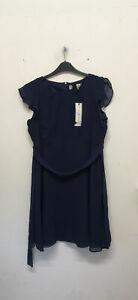EX Billie & blossom petite navy mini dress Size UK14 EUR42 {Z19}