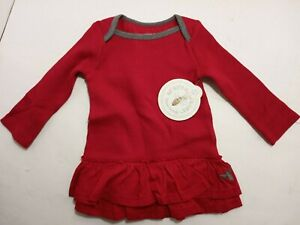 NWT Burt's Bees Baby Girl Christmas Holiday Dress - Size 6-9 Months