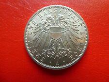 2 Mark Kaiserreich, Lübeck, 1904, stempelglanz