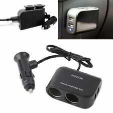 1*2 Way Car Cigarette Lighter Socket Splitter 12V Dual USB Charger Power Adapter