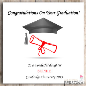Congratulations on Your Graduation Son Daughter Niece Nephew Personalised Card