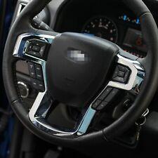 15-21 Ford F150 Chrome Molded Steering Wheel Bezel Trim Cover