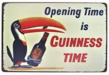 Guinness Tin Sign Opening Time Is Guinness Time Dublin Ireland Irish Stout 1.00
