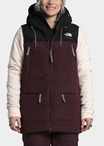 2021 NWT THE NORTH FACE WOMENS PALLIE DOWN VEST $200 S root brown 2L hood sherpa