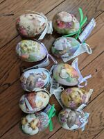Decorative easter eggs Lot of 10