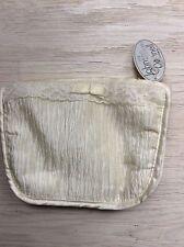 Cream Pearl Satin Toiletries Bag / Make Up  Bag / Cosmetic Bag