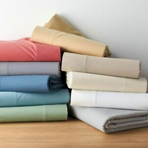Egyptian Cotton Glamorous 5 PC Duvet Set+Fitted Sheet Solid Colors Olympic Queen