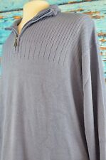 Geoffrey Beene Men's Half Zip Pullover Sweater Fleece Size 3XL-T NEW $85 Warm