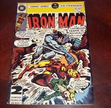 Editions Heritage Invincible Iron Man # 45/46 1976 French Edition Black White