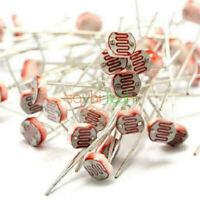 20PCS GL5516 Photoresistor LDR CDS 5mm Light-Dependent Resistor Sensor Arduino