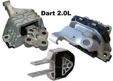 9LB185 3pc Motor Mounts fit 2.0L Dodge Dart 2013 - 2016 for Engine Transmission