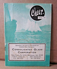 CHEER Pennsylvania humor magazine 1973 Consolidated Glass booklet New Castle ads