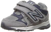 New Balance Kids' KV888 Running Shoe Grey/Navy Infant (0-12 Months) Size 1.5