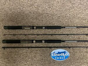 2PK DAIWA GREAT LAKES 7'6 MED TROLLING RODS DOWNRIGGER PLANER BOARD