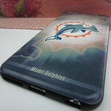 """Miami Dolphins #BG Rubber+Leather Cover Case for Apple iPhone 6 Plus 5.5"""""""