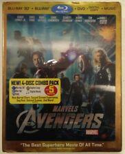 The Avengers (3D Blu-ray/DVD, 2012, 3D,Lenticular Slipcover) Marvel Phase One