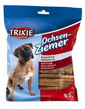 Trixie 12cm Bull Pizzle Bulk Pack of 8 (Total 64 Sticks) Dog Treats Chew Tough