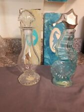Vintage Avon Sea Horse and Sea Fantasy Angel Fish Decanters