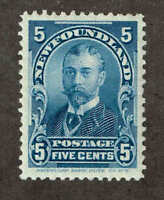 Newfoundland  # 85  George V as Duke of York.  1899.  VF  MH.