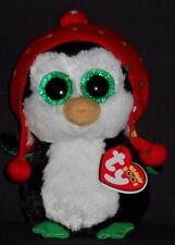 """TY BEANIE BOOS - FREEZE the 6"""" HOLIDAY PENGUIN - MINT with MINT TAG"""
