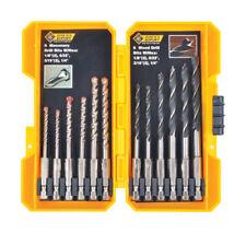 Steel Grip  Carbon Steel  Hex  Multi Size  Dia. Drill Bit Set  12 pc.