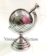 """Handmade Nautical Aluminum 8"""" Decorative Globe Vintage Antique World Globe"""