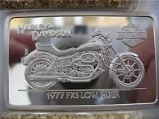 1.4-OZ.999 PURE SILVER 90TH ANNIVERSRY INGOT 1977 LOW RIDER HARLEY DAVIDSON+GOLD