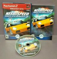Need For Speed Hot Pursuit 2 Racing Playstation 2 PS2 Game Rare Complete Tested`