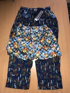 Mitch Dowd Pyjamas Long Tetris Monkey Silk Boxers ^_^ sizes medium