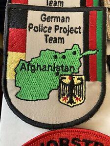 Badge Patch Police Germany German Police project Tea Afghanistan Mazar-e-Sharif