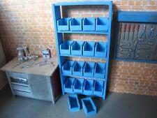Regal mit Stapelboxen für Modellauto Garage Werkstatt Diorama Deko Zubehör 1/18