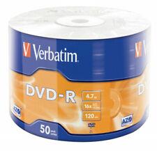DVD-R VERBATIM 16X 4.7GB in CONFEZIONE da 50 PEZZI 43788