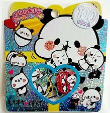 Kamio Japan Kawaii Stickers Sack 61 sticker flakes stationery Panda Mochi Bear