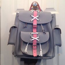 Grafea Backpack Hari Grey Pink White Lace Criss Cross