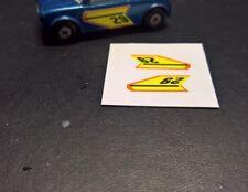 MATCHBOX LESNEY Superfast No.29d Racing Mini,  Set of door stickers,