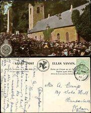 ISLE of MAN 1910 PPC MANX CAMERA...KIRK BRADDAN SUNDAY MORNING