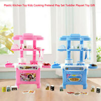 Kitchen Toy  Cooking Pretend Play Set  Kids Toddler Playset Toy Gift Plastic A01
