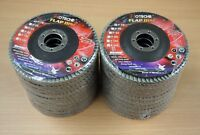 "Lot of (20) Aluminum Oxide Flap Disc Grinding wheel 4-1/2""x7/8"", 36 Grit"