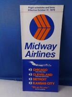 MIDWAY AIRLINES TIMETABLE APRIL - OCTOBER 1979  DC-9 JET SERVICE
