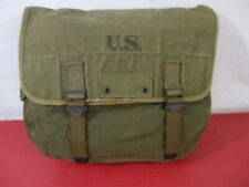 WWII Era US Army/USMC M1936 Canvas Musette Bag - OD Green Color 1945 - Excellent