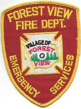 """*USED*  Village of Forest View  Fire Dept., New York  (3.75"""" x 5"""") fire patch"""