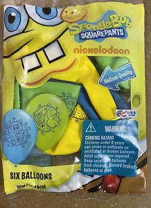 12″ Spongebob Square Pants Balloons 6 Count Pack