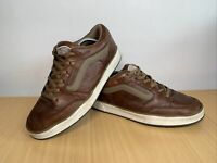 Vans Off the Wall Brown Leather Low Tops Mens Trainers Size UK 11 EUR 45.5