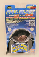 Full Blast Extra Loud Universal Black Low Tone Horn -12 Volt - Wolo Model 380-2T