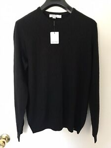 Calvin Klein Men Merino Wool Sweater Black New (M)