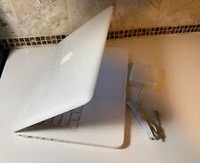 "Apple MacBook White 13"" A1342 NEW 256GB SSD, 8GB of Ram. OS High Sierra & More"