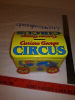 CURIOUS GEORGE CIRCUS TIN COIN BANK HAD CIRCUS PEANUTS IN IT CLEANED OUT